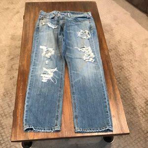 Men's Levi jeans.